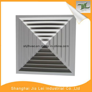Square Diffuser 4 Way Air Terminal Air Conditioning Grille Return Diffuser pictures & photos