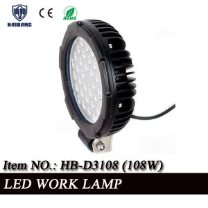 "High Quality 7"" 108W LED Work Light for Offroad, Tractor IP67 Waterproof pictures & photos"