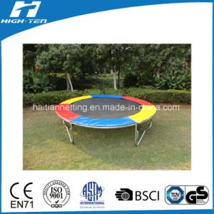 Colorful Trampoline Without Safety Net with Safety Pad pictures & photos
