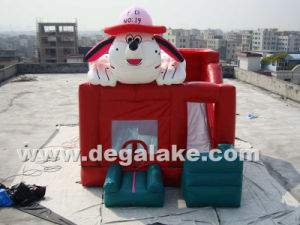 Inflatable Dog Bounce Slide Combo Bouncy Castle for Children
