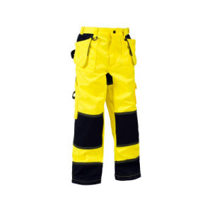High Visibility Man Work Trousers Safety Pants with Reflective Stripes pictures & photos