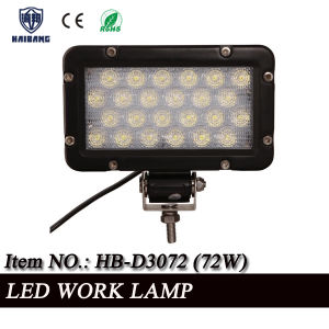 Factory Direct 12V 24V Offroad LED Driving Light 72W LED Work Light Spot or Flood Beam (HB-D3072 72W) pictures & photos