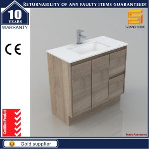 Customized Sanitary Ware Melaimine MDF Bathroom Cabinet with Wash Basin pictures & photos