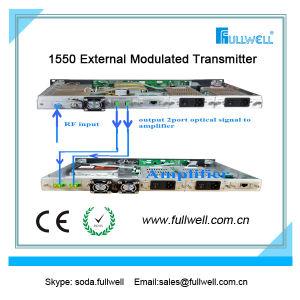 Hfc 1550nm CATV Fiber External Optical Transmitter Sbs 13-19dBm Adj-FWT-1550eh-2X9 pictures & photos