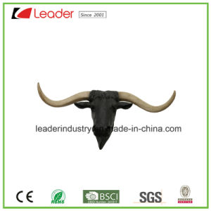 Hot-Sale Decorative Polyresin Bull Head Figurine Wall Decor for Home and Patio Decoration pictures & photos