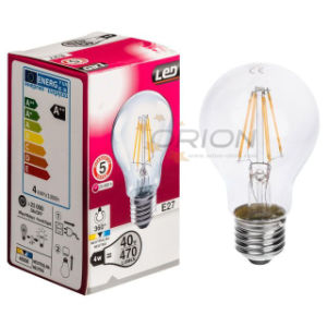 A60 4W Dimmable LED Bulb Filament with E27 Base pictures & photos