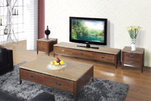 Wooden Coffee Table with Drawer (SBLCJ-193AB) pictures & photos