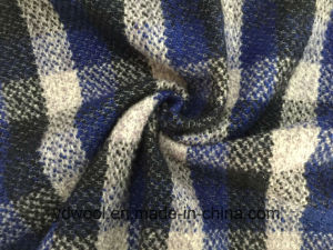 Stock Check Wool Fabric Blue & Black Woollen Cloth pictures & photos