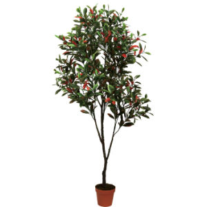 Artificial Ficus Tree Plants in Plastic Pot