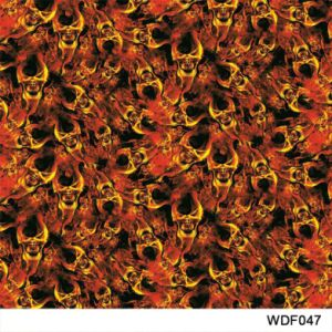Kingtop 0.5m Width Skulls and Flame Design Water Transfer Printing Hydrographic Film Wdf9035b pictures & photos