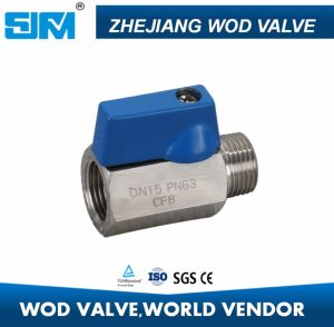 CF8 CF8m F/F F/M Threaded Mini Ball Valve Q11f Pn63 with Aluminium Alloy Handle pictures & photos