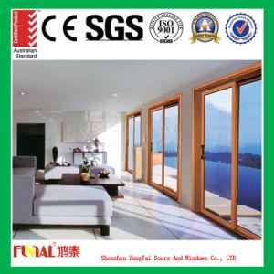 Wooden Color Aluminum Alloy Sliding Door