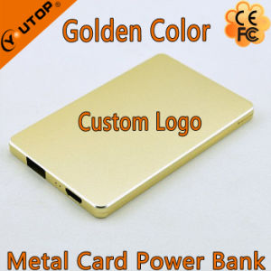 Golden Metal Card Power Bank with Capacity 4000mAh for Mobilephone/iPad pictures & photos