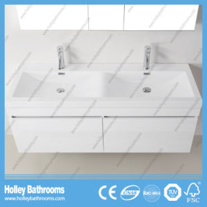 Top Grade Bathroom Furniture with 2 Basins and Mirror Cabinet (BF370D) pictures & photos