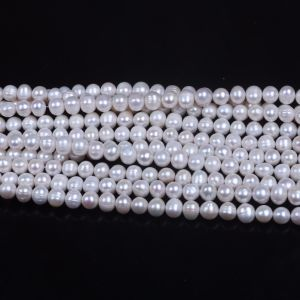 10mm 11mm White Potato Freshwater Pearl Strand Wholesale pictures & photos
