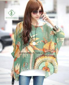 Hot Sell Bohemia Series Blouse Beach Sunscreen Fashion Chiffon Shirt pictures & photos