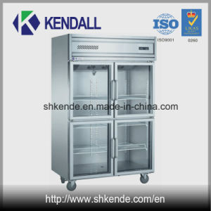 4 Glass Doors Stainless Steel Commercial Deep Freezer