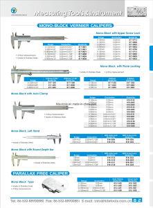 Carton Steel/Stainless Steel Mono-Block Vernier Calipers pictures & photos