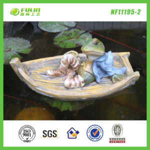 Resin Garden Frog Water Floating Pipe Floater (NF11195-2)
