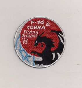 F-16 Flying Dragon Embroidery Patch