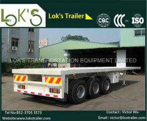 40 Feet 3axles Flatbed Trailer pictures & photos