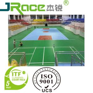 Chinese Waterproof Indoor Sports Flooring Surface pictures & photos