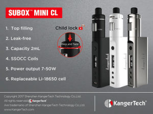 Kanger Tpd Ssocc Coil 50W Subox Mini CL Kit pictures & photos