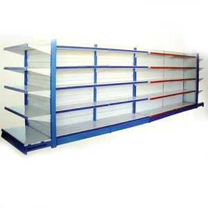 Double-Side Supermarket Shelf with Back Board (004)