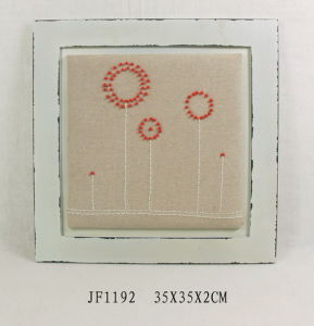 Vintage Wooden Wall Art with Embroidery and Beads Decoration pictures & photos
