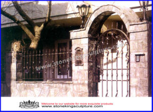 Wrought Iron Entrance Door/ Steel Entrance Door pictures & photos