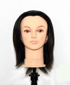 Human Hair Female Mannequin Head (9019)