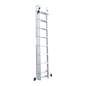 Domestic Aluminum 3 Section Extension Ladder for 3*7steps pictures & photos
