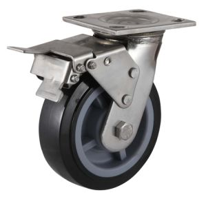 Heavy Duty Swivel PU Caster (Black) (with dust cover) pictures & photos