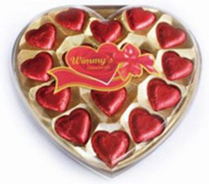15 Pieces Red Heart Chocolate (H15RH)
