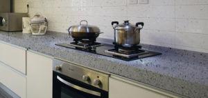 Discount Engineered Grey Quartz Stone Countertop for Kitchen