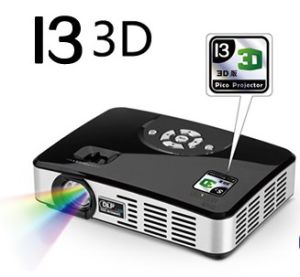 High Definition Portable LED DLP Pico Projector for Household (I3 3D)