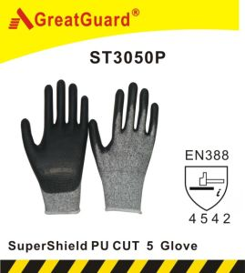 Supershield PU Palm Cut 5 Glove (ST3050P) pictures & photos