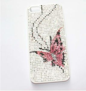 Inlaid Rhinestone Butterfly Back Cover for iPhone 5/5s (MB1054)