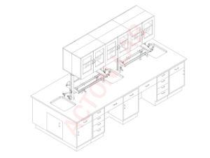 Lab Furniture-Metal Islanb Bench