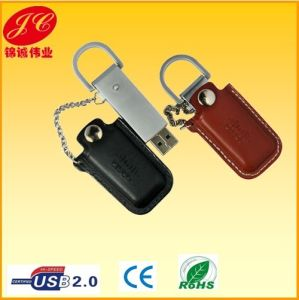 Brown Leather USB Flash Drive for Gifts (1GB-32GB)