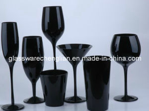Solid Black Color Glassware Set pictures & photos