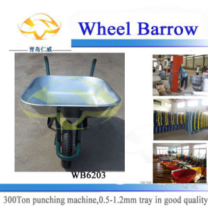 Galvanized Tray Industrial Wheelbarrow (WB6203)