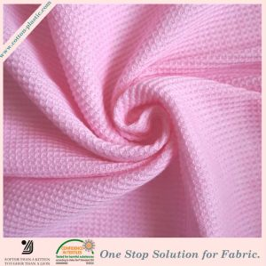 100% Cotton Stretchable Waffle Pattern Terry Cloth Fabric for Home Textile (Multiple Color Options)