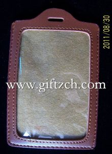 Leather Protection Cover Case of ID Card (CPL00001)