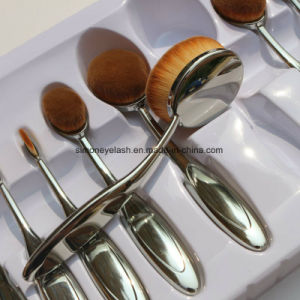 10PCS Oval Makeup Brushes for Professional Makeup Artist pictures & photos