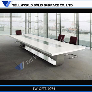 2016 Tw High Gloss Office Furniture White Meeting Table pictures & photos