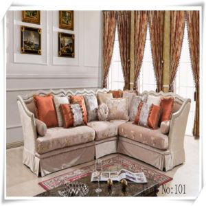 American Style Wood Classical Furniture Fabric Sofa (A-101)