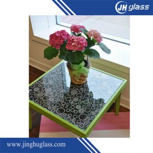 Silk Screen Painted Tempered Toughened Glass for Kitchen Splashback Wall Decoration pictures & photos