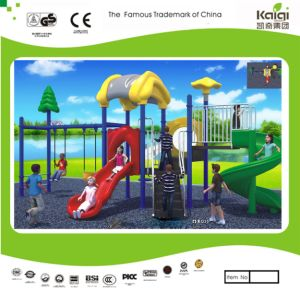Kaiqi Small Medium Forest Themed Children′s Playground Swing and Slide Set (KQ35074A) pictures & photos