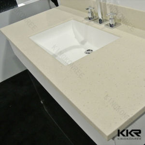 Sanitaryware Custom Made Acrylic Solid Surface Vanity Top for Bathroom pictures & photos